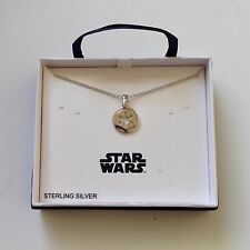 STAR WARS EMPIRE IMPERIAL LOGO STERLING SILVER PENDENT NECKLACE