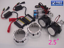 2.5 inch Universal Bi-xenon HID Projector lens Car headlight 35W xenon kit 6000k