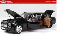 Black Kyosho 1/18 EWB Rolls-Royce Phantom Alloy Diecast Limited Car Models 08841