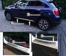 Cornici Profil Minigonne+4 Battitacco Acciaio satinato FIAT 500X
