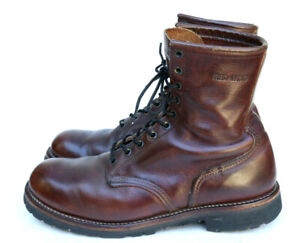 Red Wing Boots 4585 Irish Setter Sport Boot Brown Leather 10 Eyelet Work Boot 9D