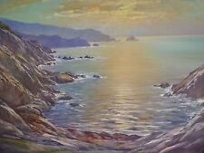 sublime,ancien Tableau__Paysage marin avec détourage__Signé : Volpi_