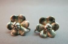 Sterling Silver Earrings Flower Marked Screw Back Petals 3.7 Grams Cute Vintage
