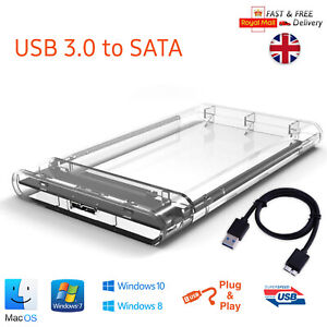 "USB 3.0 to SATA Hard Drive Enclosure Caddy External Case For 2.5"" Inch HDD SSD"