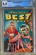 America's Best Comics #25 (1948) CGC 5.5 -- Alex Schomburg cover; Nedor