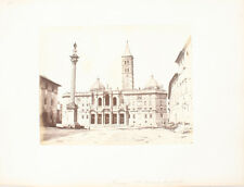 ALBUMEN PHOTO OF SAINT MARIE MAJEURE CATHEDRAL   SQUARE - ROME, ITALY