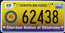 "OKLAHOMA "" CHOCTAW NATION TRIBE "" RARE OK Indian Graphic License Plate"