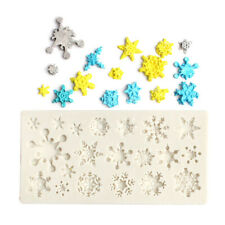 Snowflake Silicone Fondant Cake Mold Soap Chocolate Decorating DIY MoulNWCA