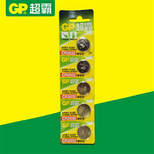 5Pcs GP CR2032 3V Coin Button Cell Battery DL2032 PCR2032