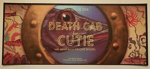 Death Cab For Cutie 2008 Concert Poster Print Jon Smith The Life Aquatic Signed