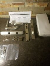 Handle Set Andersen Series Nickel/Aluminum Door Handle Set w/ Lock & Keys #34110