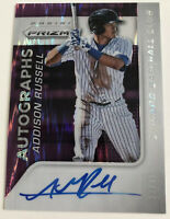 Prism Refractor Addison Russell Autograph- 2015 Chicago Cubs  signed 33/99 MLB