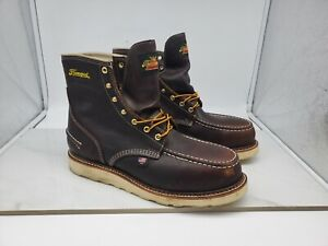 Thorogood Mens Waterproof Steel-Toe Work Boots 804-3600 Size 10.5 EE Made In USA