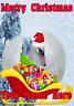 Swan Santa Sleigh nnc278 Christmas Xmas Card A5 Personalised Greetings Cards
