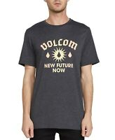 Volcom Mens T-Shirt Gray Size Large L Crewneck Modern Fit Graphic Tee $26 #237