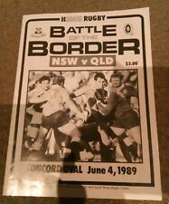 Ricoh rugby union Battle of the Border NSW v QLD Concord oval June 4 1989