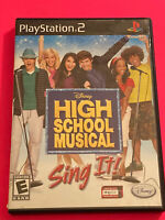 🔥 SONY PS2 PlayStation Two 💯 WORKING GAME 🔥DISNEY HIGH SCHOOL MUSICAL SING IT