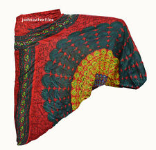 INDIAN BAGGY GYPSY HAREM PANTS YOGA MEN WOMEN RAYON CHAKRI PRINT TROUSERS jjs