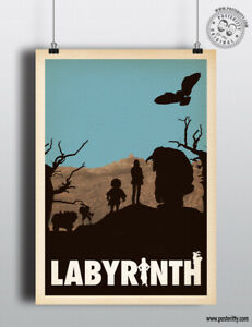 LABYRINTH (David Bowie) - Minimalist Movie Poster, Minimal Film Posteritty Art