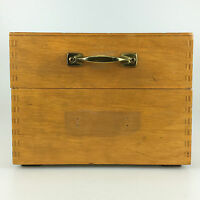 50er 60er Jahre Karteikasten Holz Archiv Aufbewahrung Mid Century Design 3/15