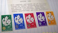 SURINAME 1966 STAMP SET EASTER CHARITY MNH LOT 116
