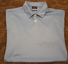 NIKE GOLF DRI FIT POLO BLUE SOLID LARGE SHIRT SWOOSH LOOK