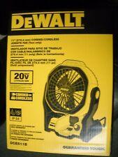 "Dewalt Dce511B 20V Max 11"" Cordless Corded Jobsite Fan New"