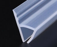 1M/2M Bath Shower Screen Door Window Seal Strip Gap Curved Flat Rubber 6mm~12mm
