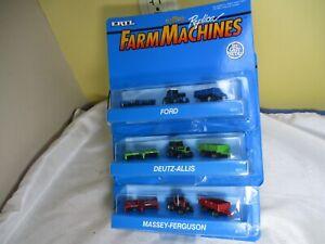 Ertl Micro Size Farm Machines Massey Deutz Ford Tractor Sets