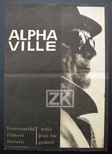 ALPHAVILLE Lemmy Caution JEAN-LUC GODARD JIRI STACH Nouvelle Vague Affiche '65