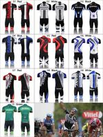 Mens Cycling Jersey Kit Outfits Bike Bicycle Team Clothing Shirt Padded Shorts