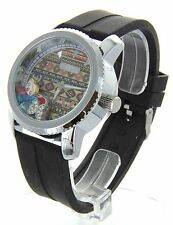 Jumbo Big Face Women's Watch With Floating Charms Silicon Band