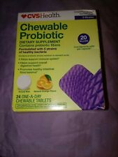 CVS Health Chewable Probiotic ORANGE FLAVOR 24ct Tablets Exp 12/2020