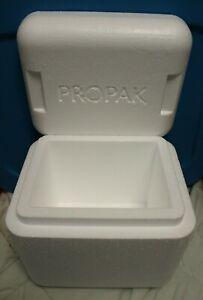 "Styrofoam Insulated Cooler, shipping box, 1.5"" walls, ext=11x9x10 clean PROPAK"