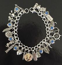 Peter Pan Charm Bracelet, Neverland, Wendy, The Lost Boys, Captain Hook, Gift