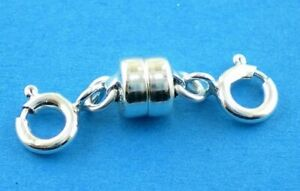 Sterling Silver 925 Strong Magnetic Clasp Converter Necklace or Bracelets
