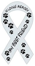 Ribbon Shaped Magnets: In Loving Memory | My Best Friend | Cars, Black & White