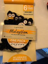 Sensationnel Malaysian Virgin Remi Hair One Pack 6PCS Closure Euro Deep