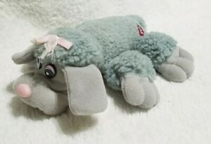Vintage Grey And Pink Poodle Pound Puppy Plush