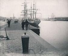 NANTES c. 1900 - La Loire Grands Voiliers Quai  Div 6719
