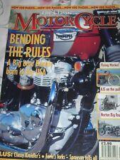 The Classic Motor Cycle 02/00 Triumph Bonneville T120RT, AJS 16M,Norton Big Four