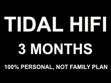 [100% Personal]TIDAL Hi-Fi 3 Months