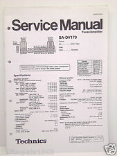 Technics Original Service Manual SA-DV170 Tuner/Amplifier