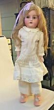 """Antique Doll Armand Marseille German Bisque Head Jointed Open Mouth 20"""" Mabel"""