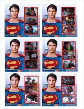 SUPERMAN 1 MOVIE SUPERHEROES 6 SOUVENIR SHEETS MNH UNPERFORATED MOVIES