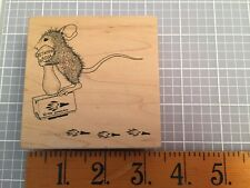House Mouse Stampa Rosa Rubber Stamp POGO Stick STAMP Mice 1998 Limited Edition