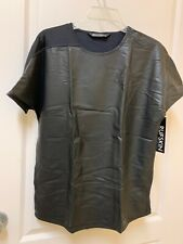 """New MEN'S RUFSKIN SHIRT Top """"rubber"""" MADE IN USA Black Size Large"""