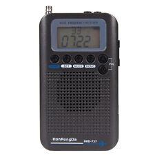 Mini Vhf Radio Aircraft Band Radio Receiver with Lcd Display Black