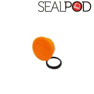 Sealpod Fresh Cover & Silicone Ring for Nespresso compatible Capsules (Orange)