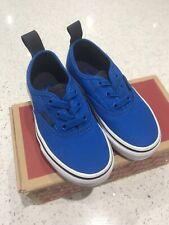 Vans Kids Size 10.5 Uk Blue Brand New In Box